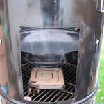 Коптильня для горячего копчения из бочки