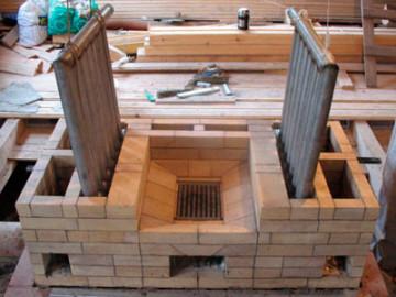 Отопительная печь с водяным контуром - как строится