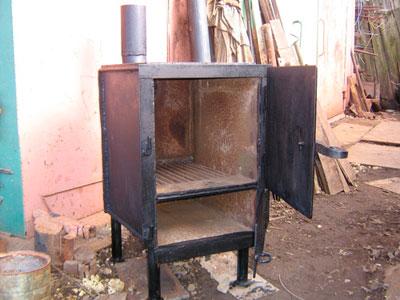 Печка-буржуйка квадратной формы