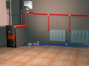 Смонтированная система отопления