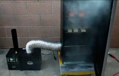 Дымогенеоатор со специальным электрическим элементом
