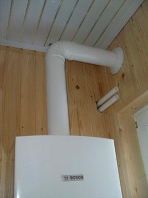 Дымоход для газового котла в доме