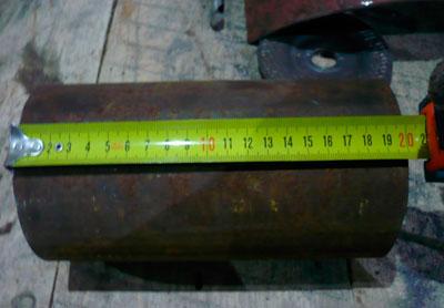 Измеряется высота для печи из баллона