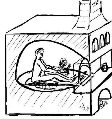 Как мылись в русской печи