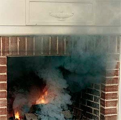 Неисправный или засорённый дымоход в доме