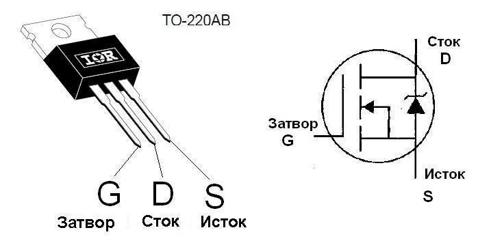 Распиновка полевых транзисторов
