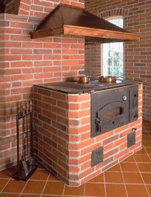 Кирпичная печь с плитой