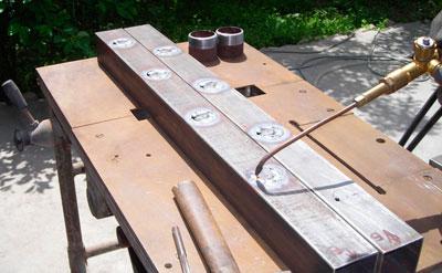 Один из этапов создания коллектора отопления