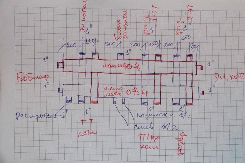 План-схема гребёнки