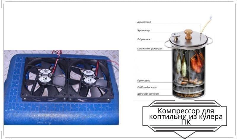 Компрессор для дымогенератора холодного копчения своими руками из аквариумного компрессора