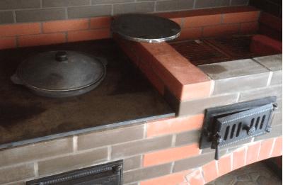 Все про мангалы из кирпича с печкой для казана