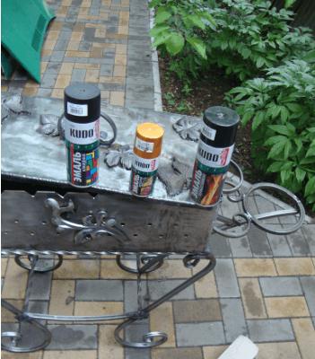 Как выбрать краску для мангала?