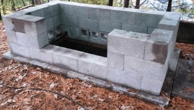 Как сделать мангал из блоков?