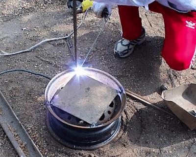 Как изготовить мангал из дисков автомобиля?