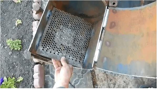 Изготовление мангала с коптильней из металла