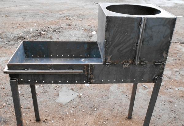 Как правильно сделать мангал с казаном из металла?