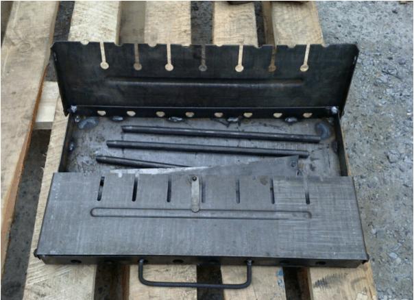 Виды и изготовление переносных мангалов