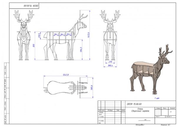 Как сделать мангал в форме оленя?