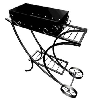 Обзор мангалов на колесах