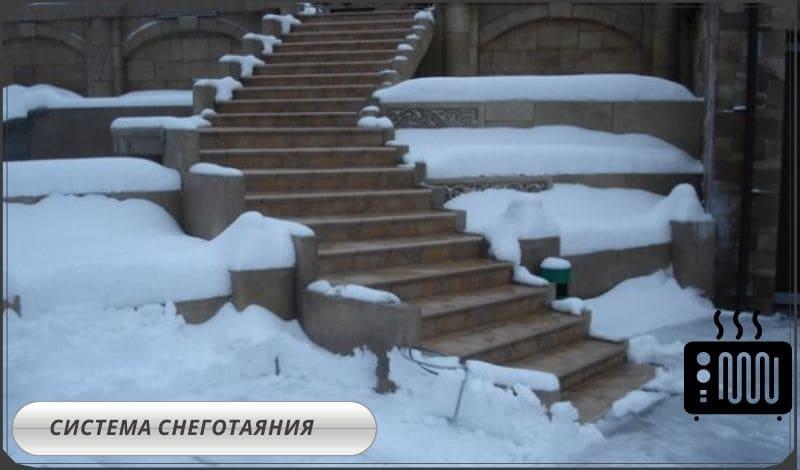 Система снеготаяния дома и участка
